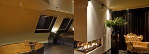 Kamer met Beamer, Jacuzzi, Open haard, Sauna en Regendouche