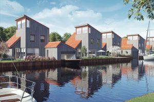 Huisje met jacuzzi aan het water in Friesland