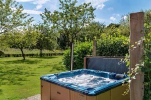 Wellness huisje met jacuzzi en zwembad