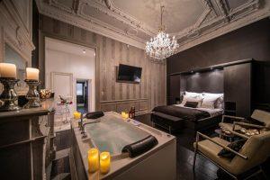 Romantisch hotel met jacuzzi op de kamer in Luik België