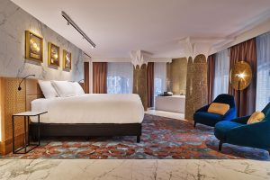 Hard Rock hotel Amsterdam American met jacuzzi op kamer